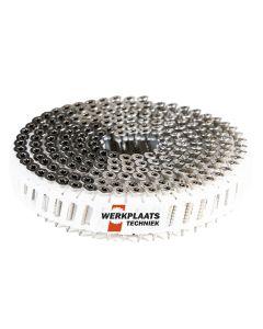 Nail screws op rol 2.8x40 RVS Plastic gebonden 15° Tx15 (jobbox 1200)