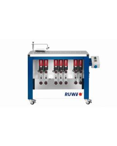 RUWI Type L basis 7 Onderfreesmachine met 7 aandrijving, tafel 1070 x 500 met transportwielen