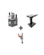 Mafell Combiset - Naadloze kantenbandmachine HIT-M 65 + Aandrukrol + BAT+ bewerkingstafel (met vacuumsysteem)